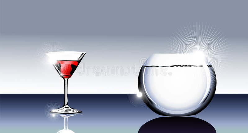 Download Cocktail Glass And Fishbowl Stock Vector - Image: 8137555