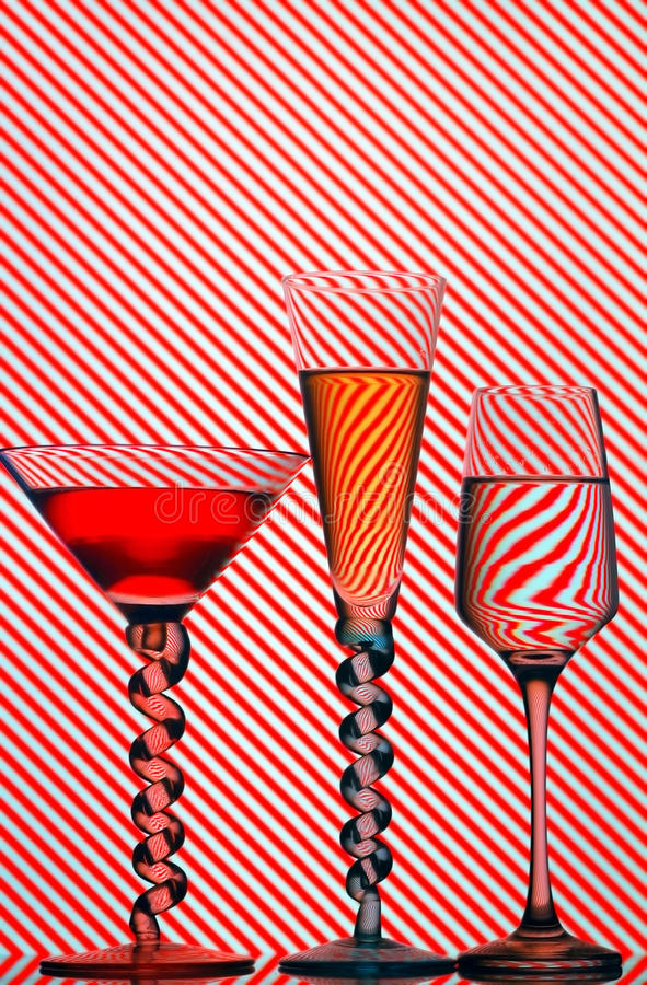 Cocktail glasses royalty free stock image
