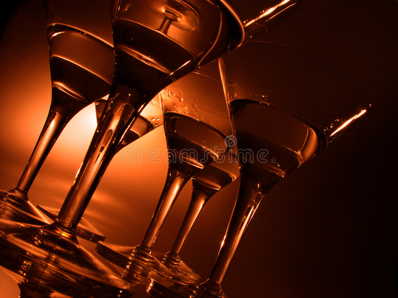 Cocktail glasses royalty free stock photography