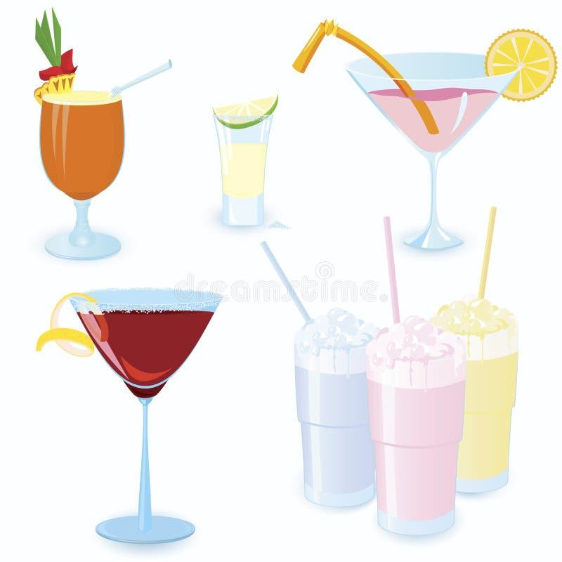 Cocktail-graphisme-placez illustration de vecteur