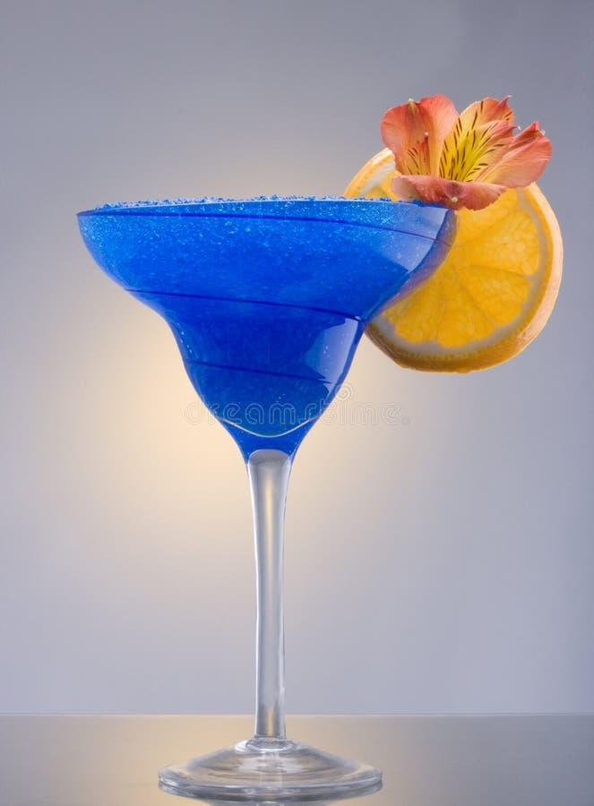 Cocktail hawaïen bleu images libres de droits