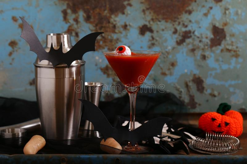 Cocktail for the holiday halloween stock images