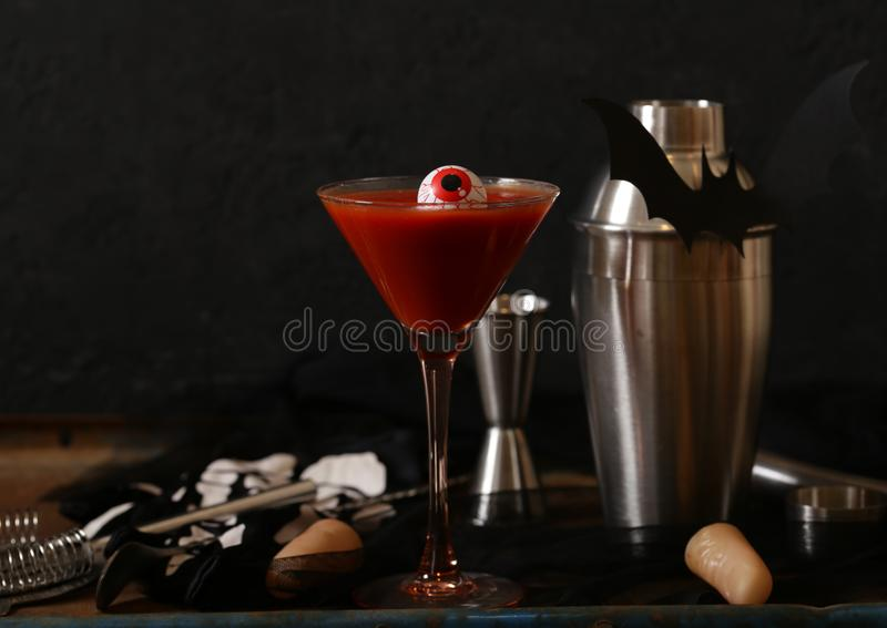 Cocktail for the holiday halloween royalty free stock photos
