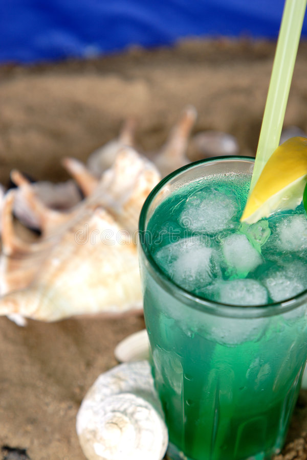 Cocktail ice stock image