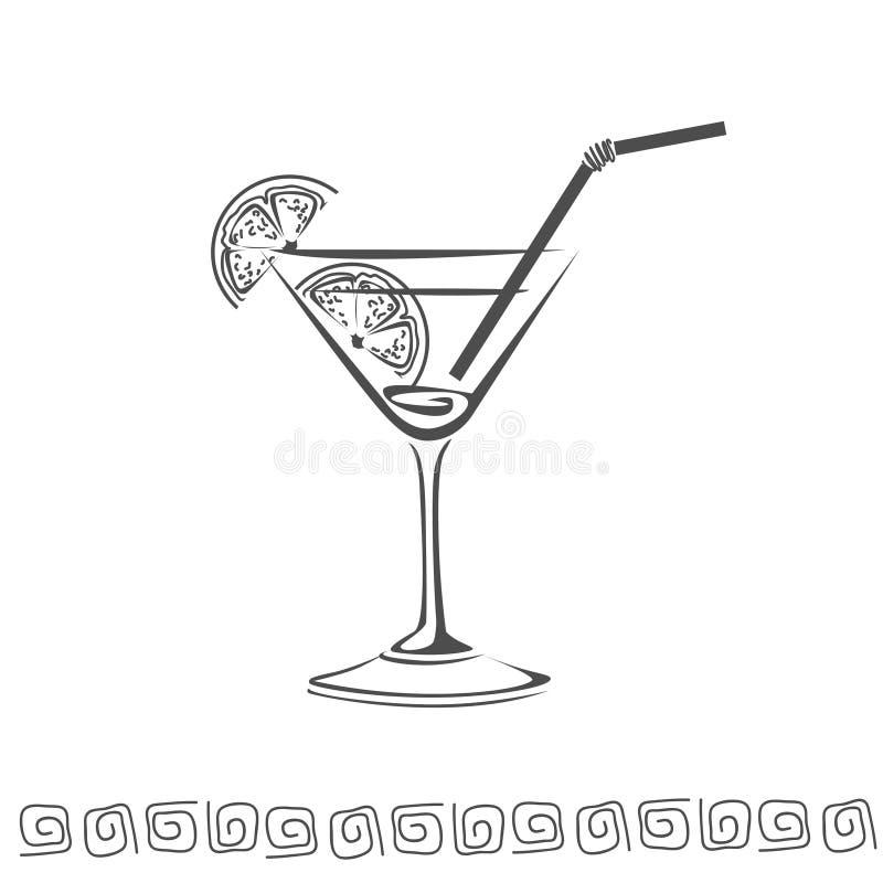 Cocktail icon stock photos