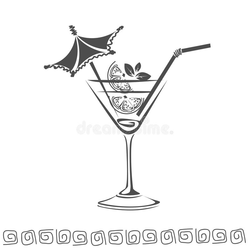 Cocktail icon stock photography