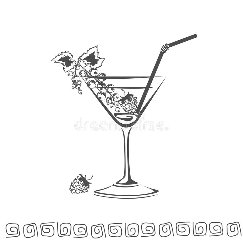 Cocktail icon royalty free stock image