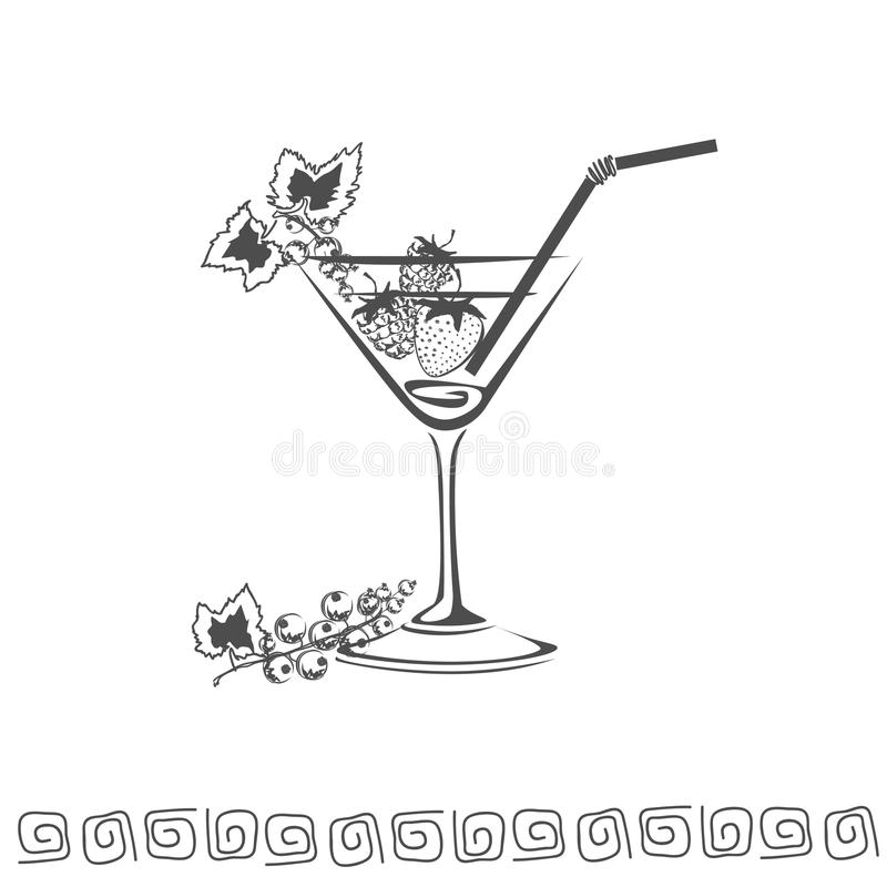 Cocktail icon stock photo
