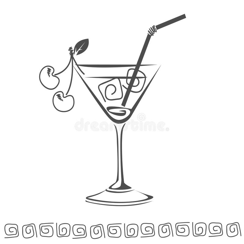 Cocktail icon stock images