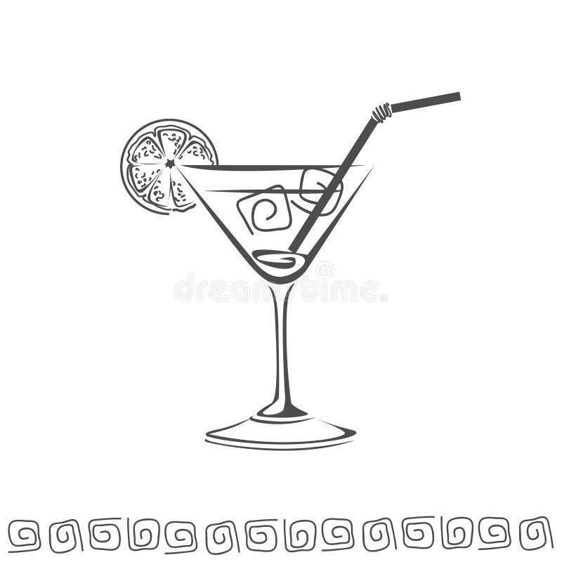 Cocktail icon royalty free stock photo