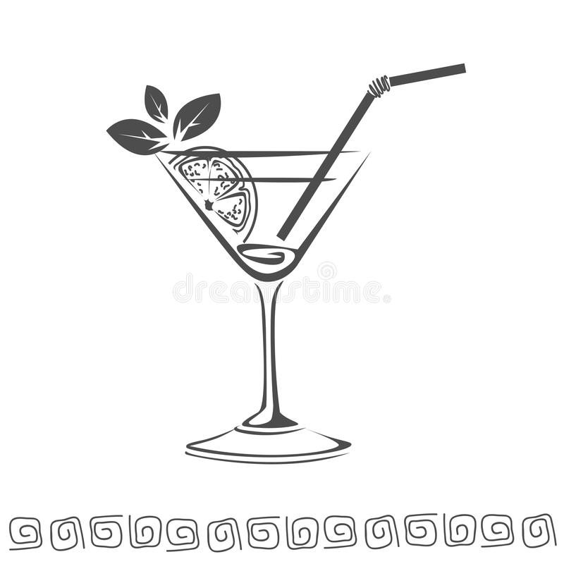 Cocktail icon stock image