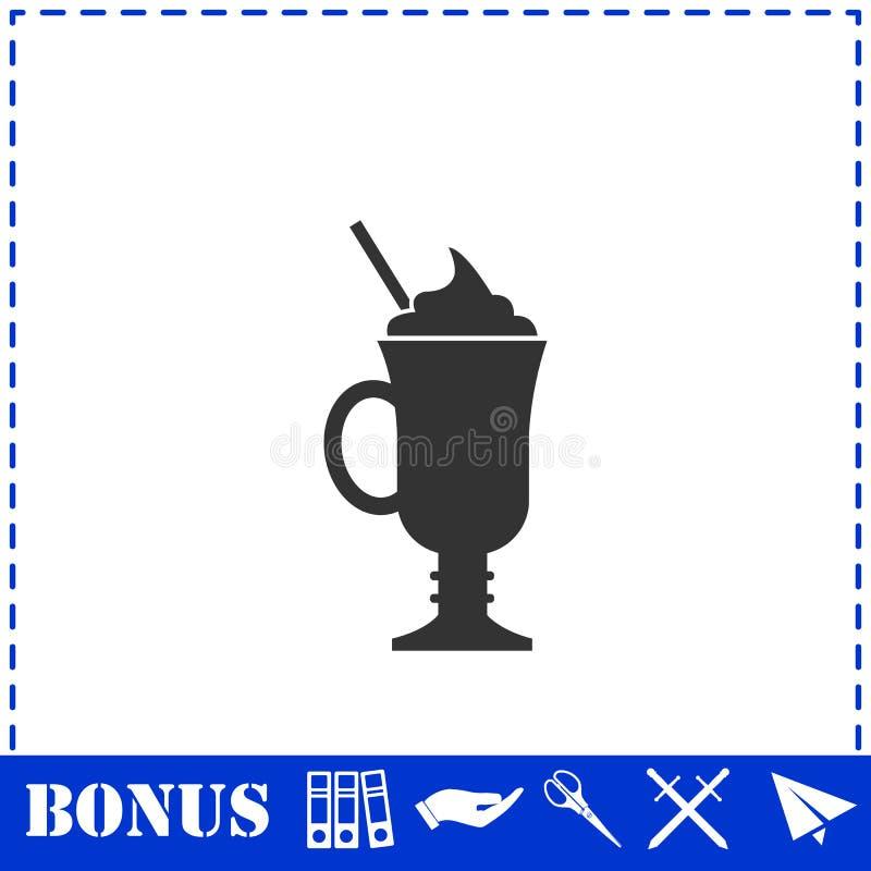 Cocktail-Ikone flach stock abbildung