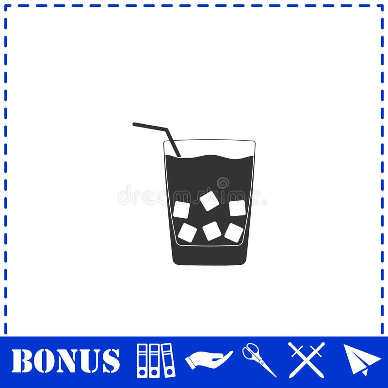 Cocktail-Ikone flach vektor abbildung