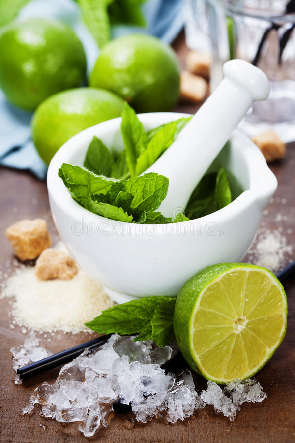 Cocktail ingredients royalty free stock images