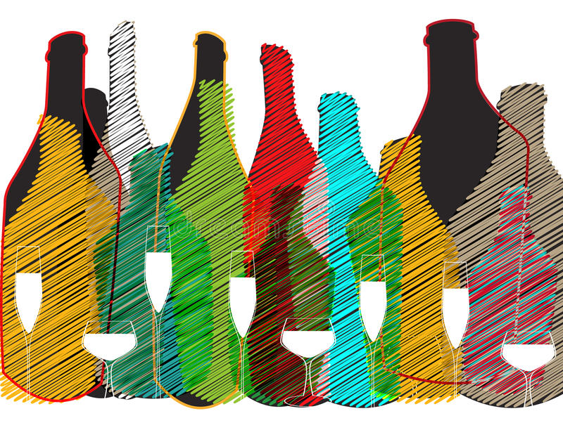 Cocktail Invation do cartão ilustração do vetor