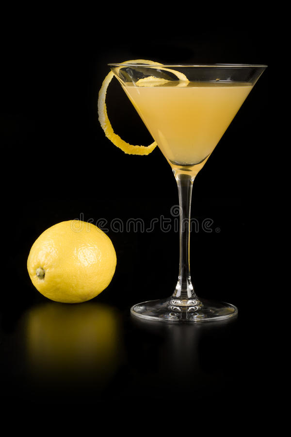 Cocktail jaune image stock