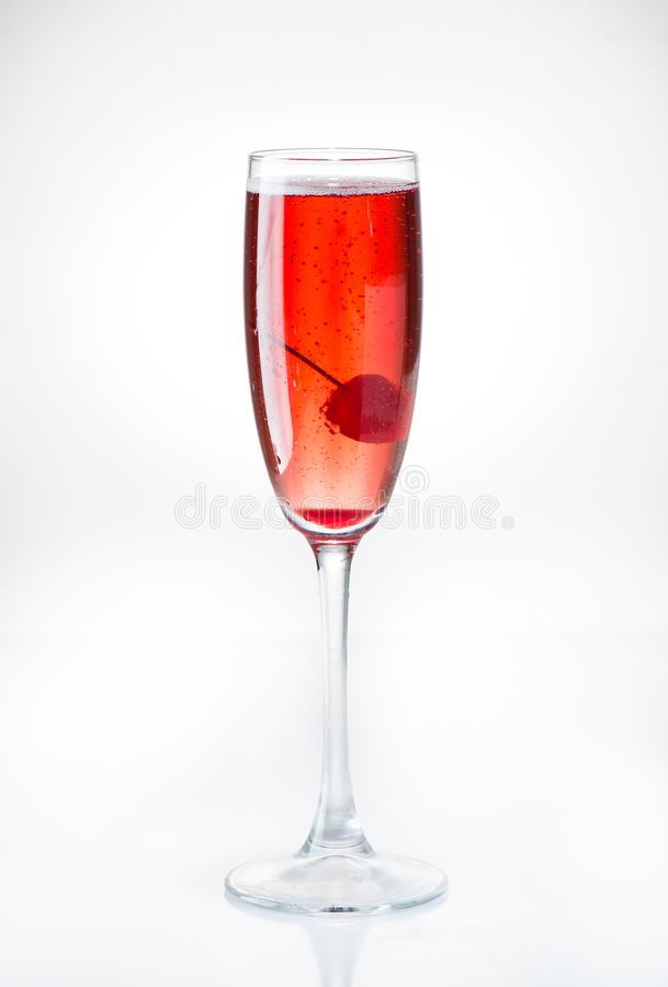 Cocktail Kir reale immagine stock