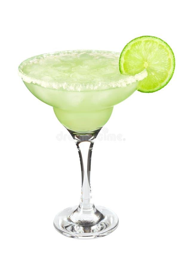Cocktail klassieke Margarita met kalk en zout royalty-vrije stock afbeeldingen