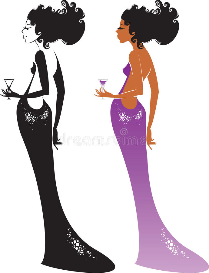 Cocktail Lady Stock Photography