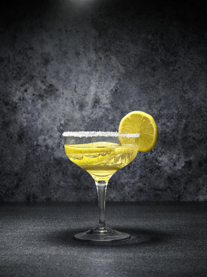 Cocktail with lemons stock image
