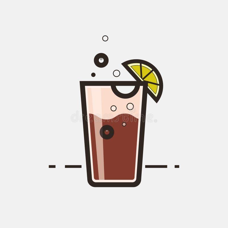 Cocktail Long Island Iced Tea royalty free illustration