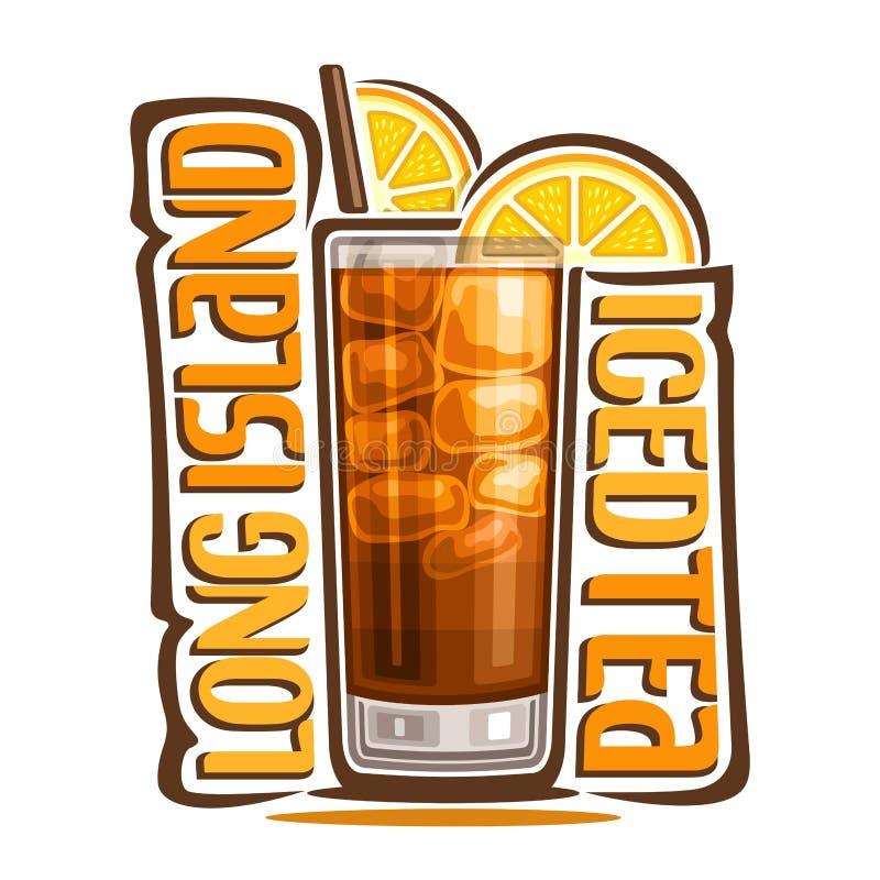 Cocktail Long Island Iced Tea vector illustration