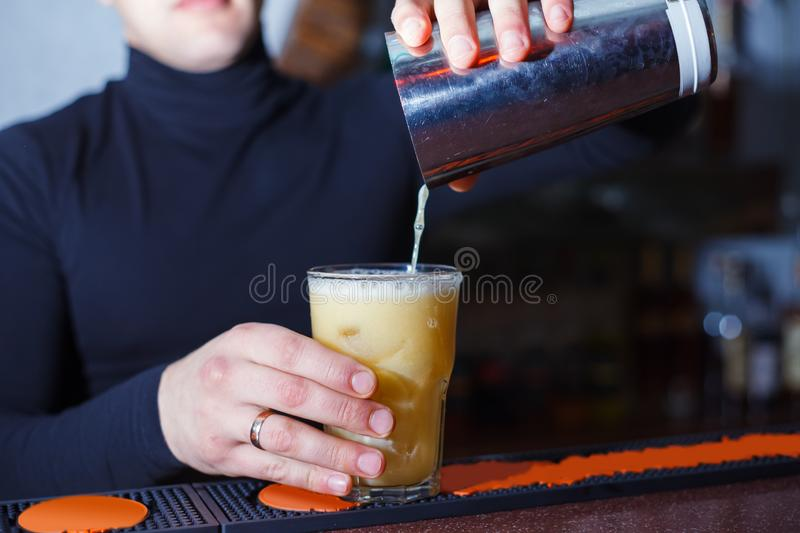 Cocktail lungo immagine stock