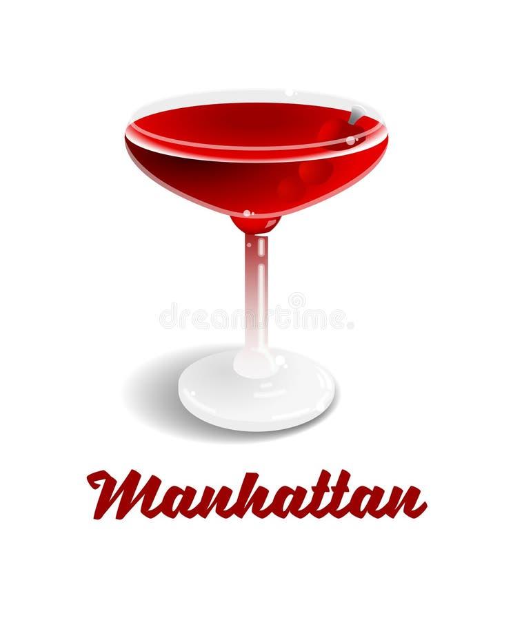Cocktail Manhattan vektor abbildung