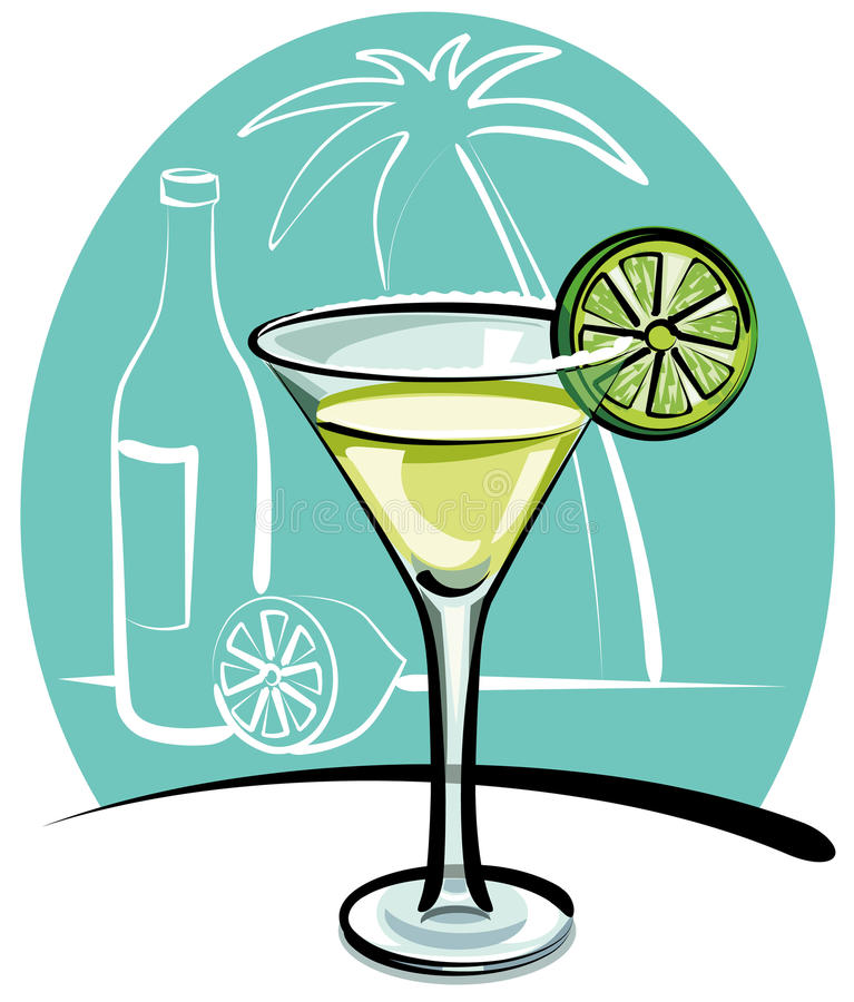 Cocktail Margarita illustration stock