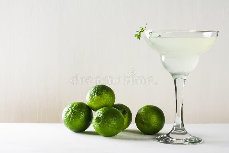 Cocktail in margarita glass stock photos