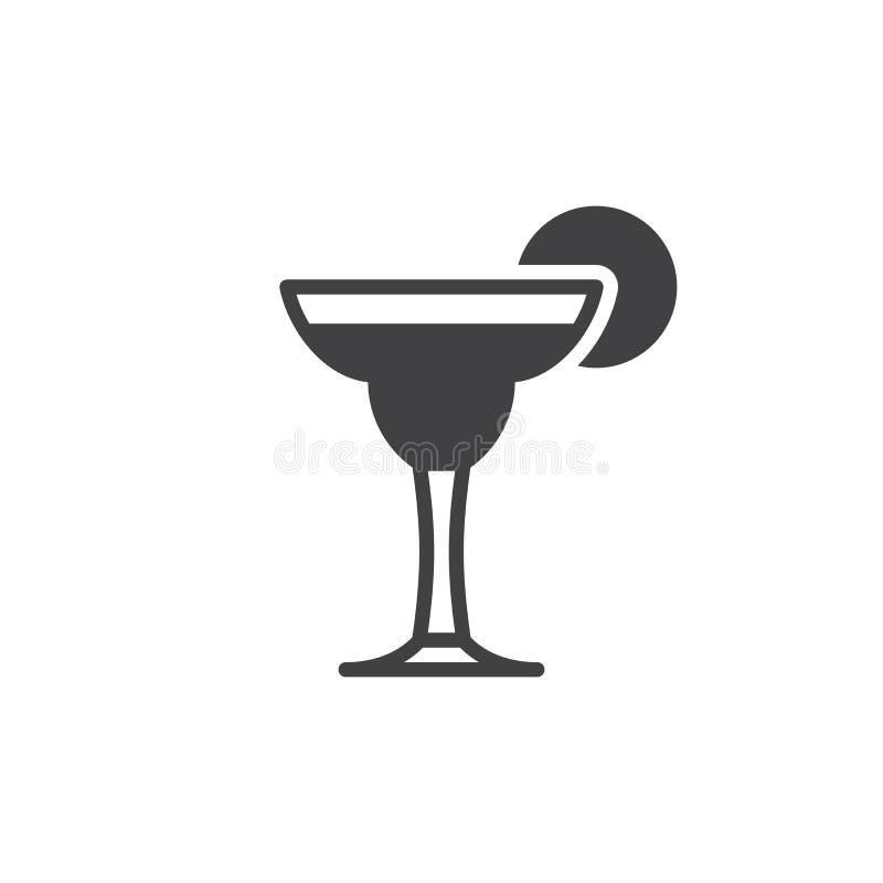 Cocktail Margarita-Ikonenvektor, gefülltes flaches Zeichen vektor abbildung