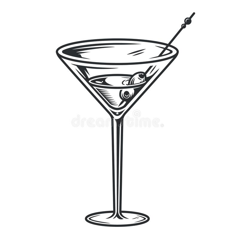 Free Cocktail Martini Glass With Olives Bar Menu Stock Photography - 178429992