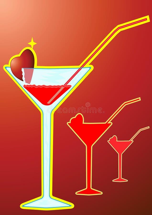 Cocktail Mary sanguinante illustrazione vettoriale