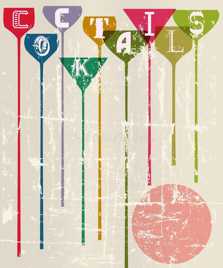 Cocktail menu vector illustration