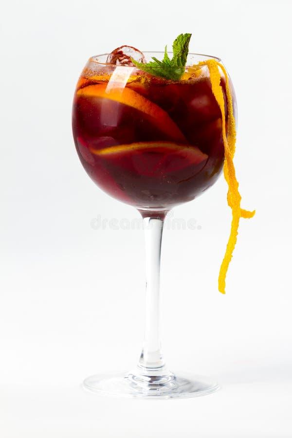 Cocktail met sinaasappel royalty-vrije stock foto