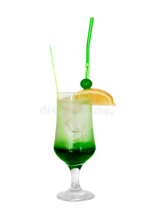 Cocktail with mint isolated stock images