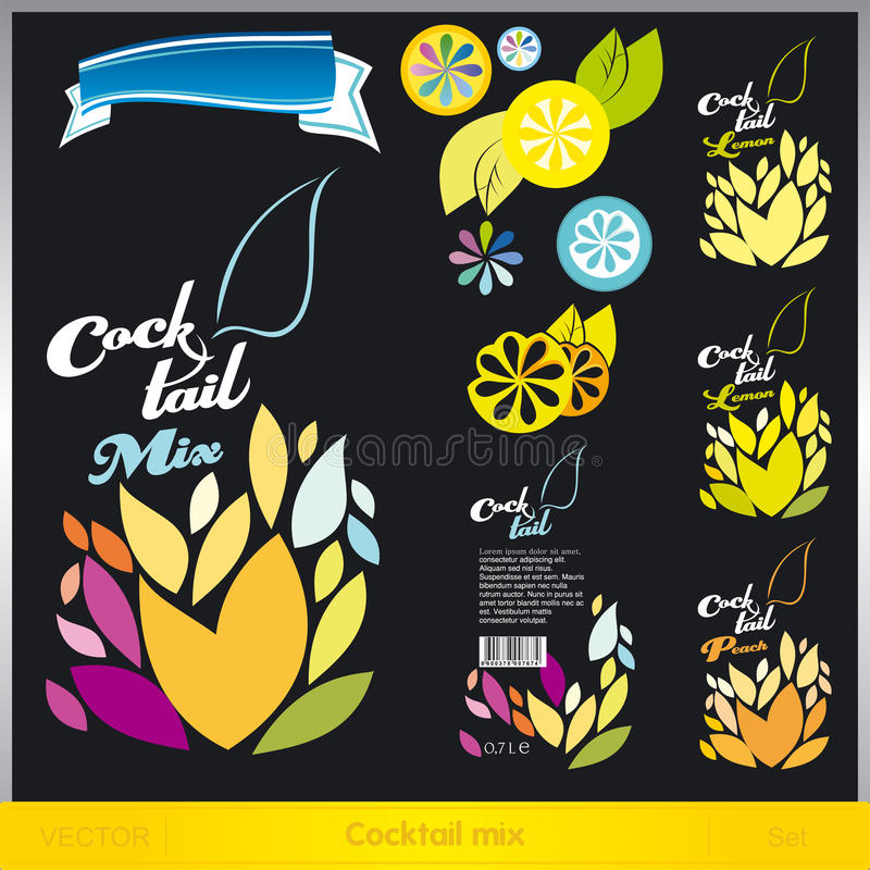 Download Cocktail mix stock vector. Illustration of beach, enjoyment - 20323936