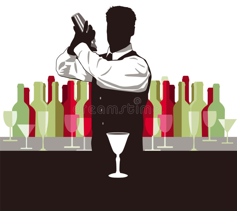 Cocktail mix royalty free illustration
