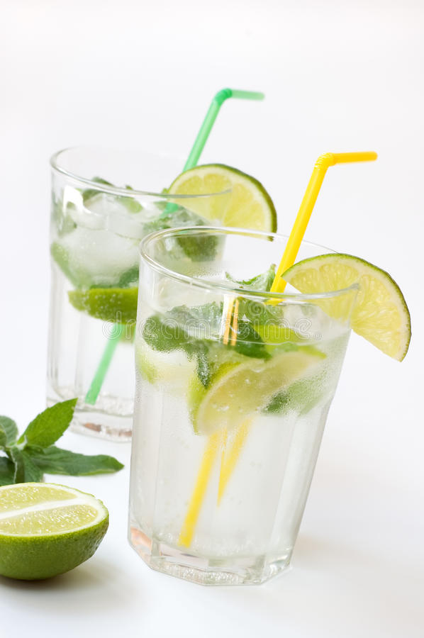 Cocktail of Mohito. stock photos