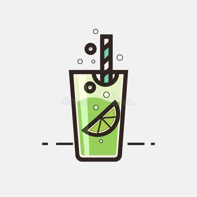 Cocktail Mojito illustrazione di stock