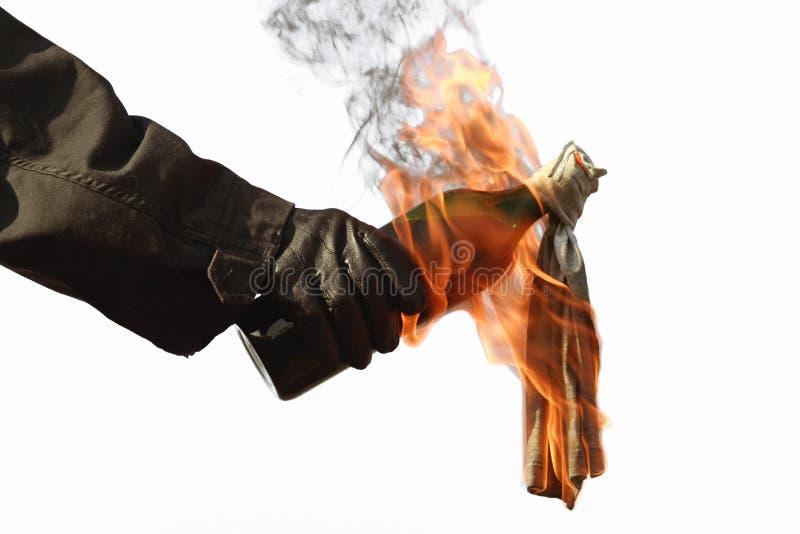 Cocktail Molotov image libre de droits