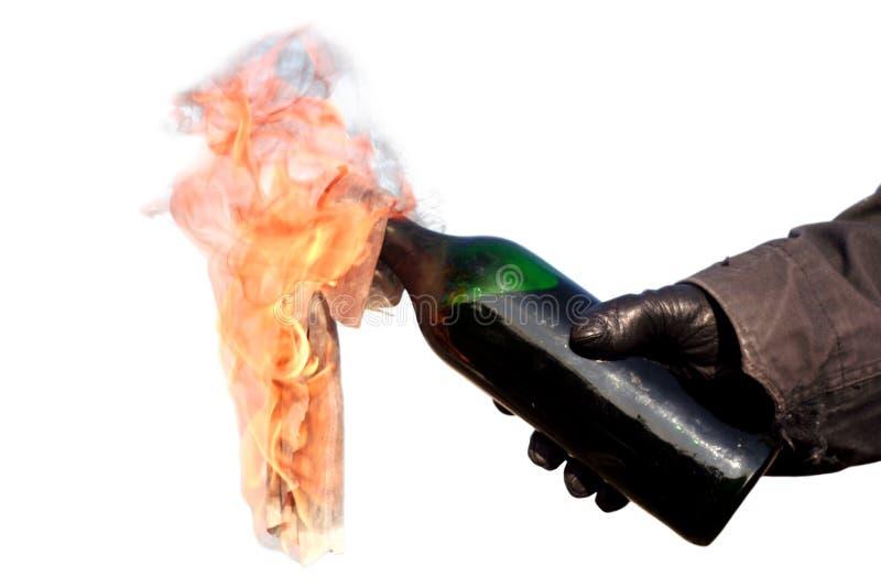 Cocktail Molotov photographie stock libre de droits