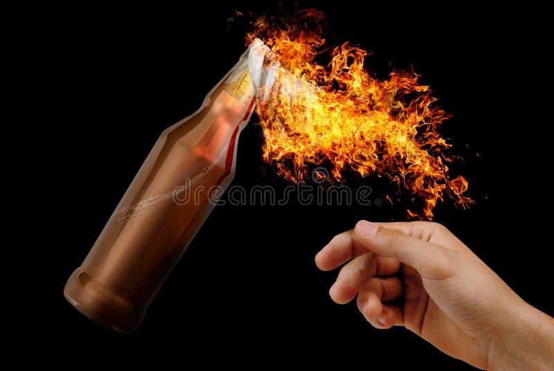 Cocktail Molotov photo libre de droits