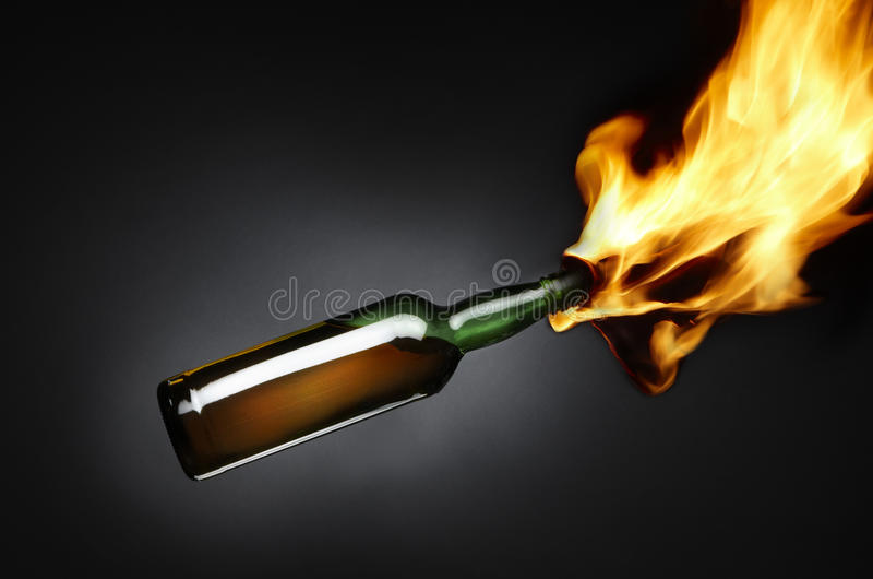 Cocktail Molotov fotografie stock