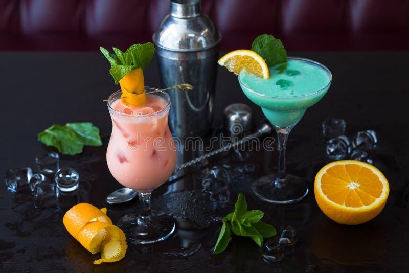Cocktail não alcoólicos imagem de stock