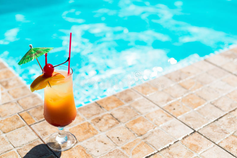 Cocktail Near The Swimming Pool Stock Photo Image 34301724