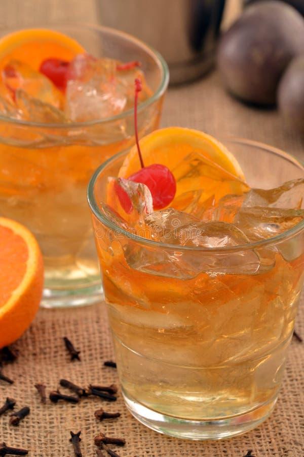 Cocktail orange de cerise photo stock