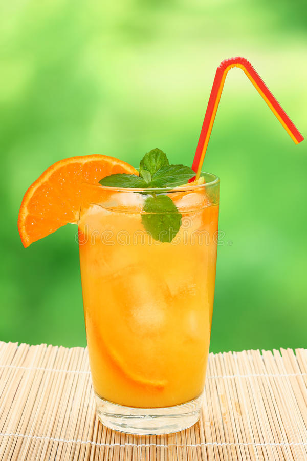 Cocktail with orange juice stock images
