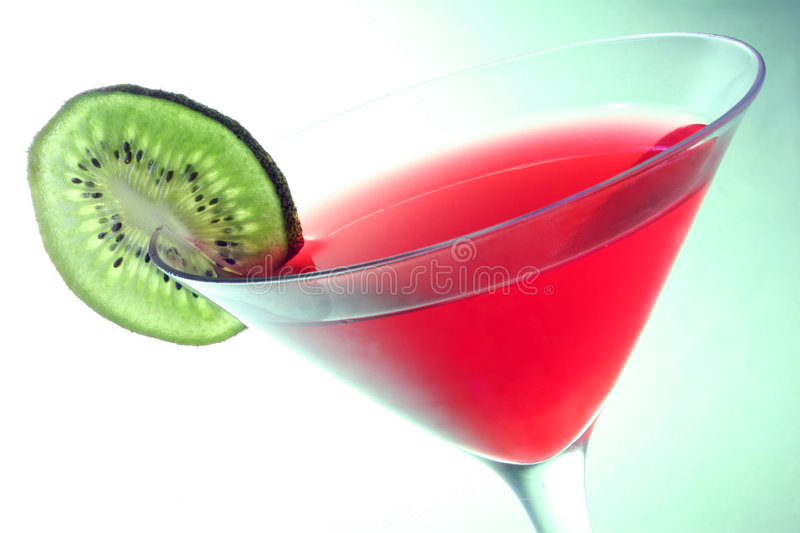 Cocktail over Green royalty free stock photo