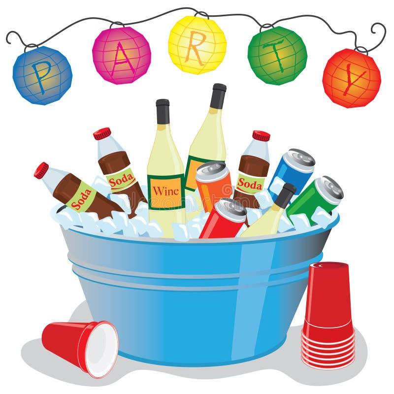 cocktail party royaltyfri illustrationer